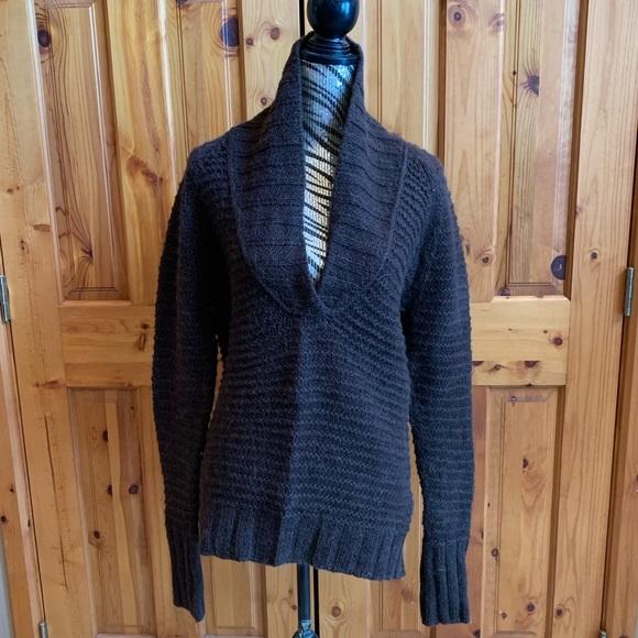 GAP Sweaters - Gap chocolate sweater with draped neckline